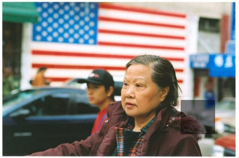 Asian American people and the US Flag