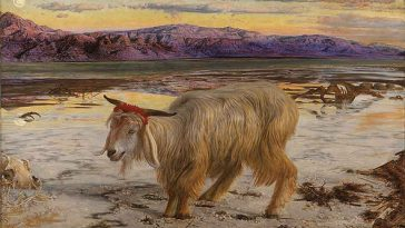 William Holman Hunt Scapegoat Painting