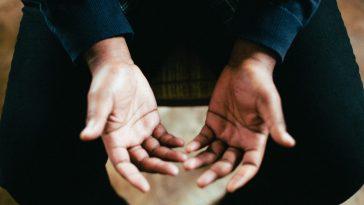 Hands open in prayer of hope