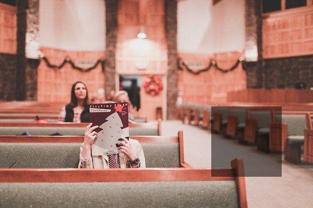 Women in church.