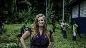 More Than Me's founder, Katie Meyler, in Liberia, September 19, 2016
