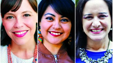 Hermanas book authors on Latina leadership Kristy Garza Robinson, Noemi Vega Quiñones, and Natalia Kohn Rivera