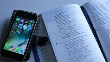 phone and bible