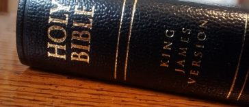 kjv bible on a table