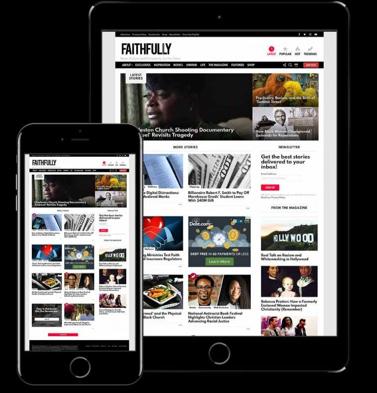 Subscribe to Faithfully Magazine Website - Christian