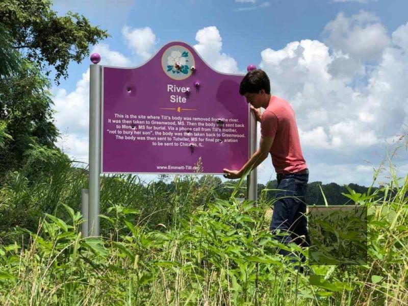 emmett till memorial sign