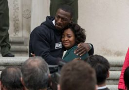 Aldis Hodge and Sherri Shepherd Brian Banks Movie