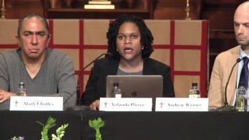 Mark Charles, Dr. Yolanda Pierce, and Dr. Andrew Wymer