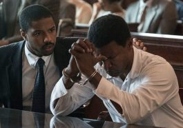 Michael B. Jordan stars as Bryan Stevenson and Jame Foxx as Walter McMillian in the Warner Bros. Pictures movie Just Mercy