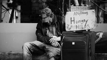 Poor Homeless Man