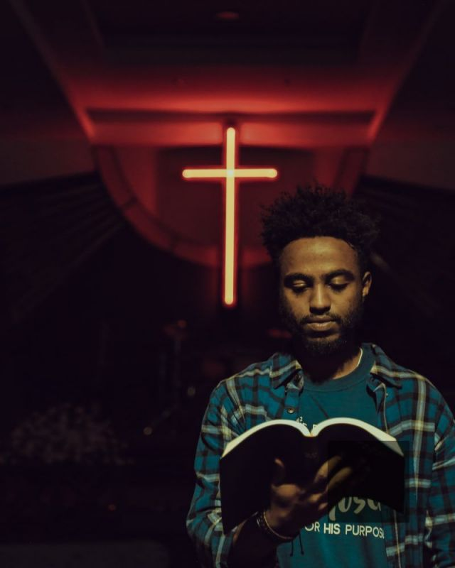Black man church