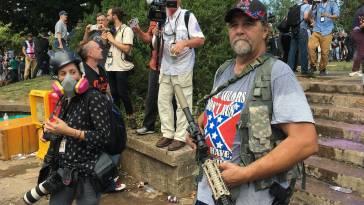 white supremacist with gun