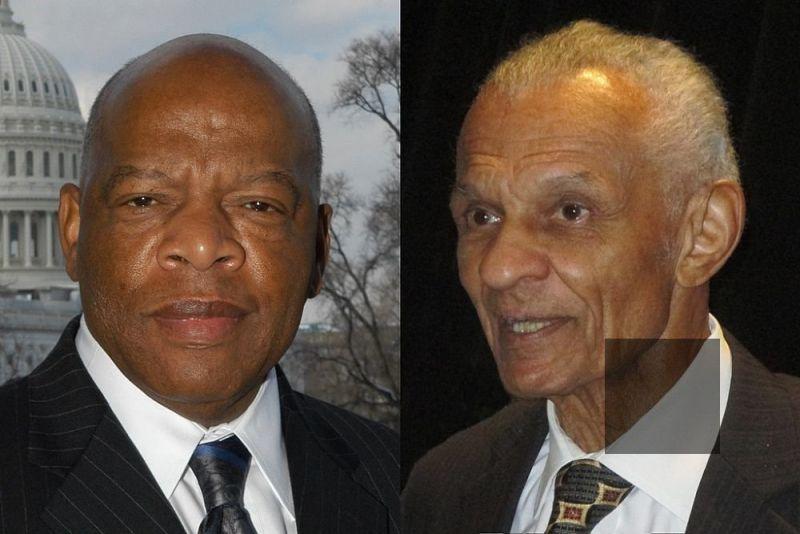Rep. John Lewis and Cordy Tindell C.T. Vivian