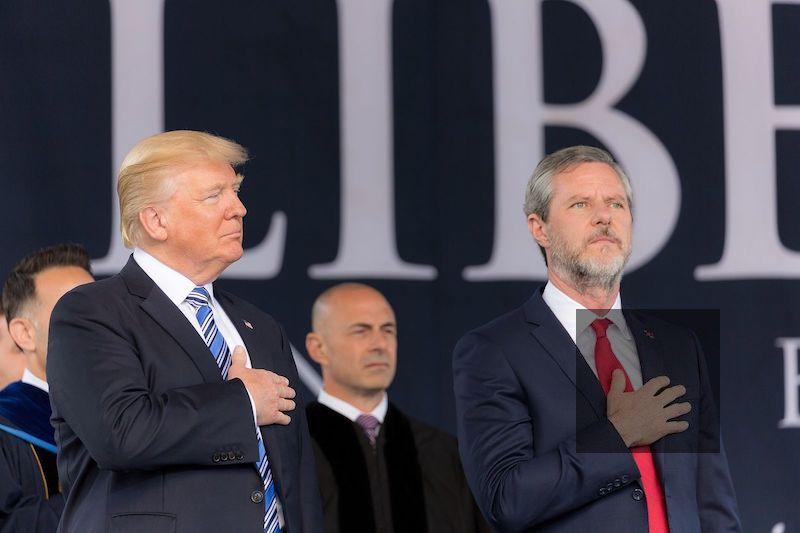 Trump and Fallwell Jr.