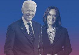 Former Vice President Joe Biden and Sen. Kamala Harris