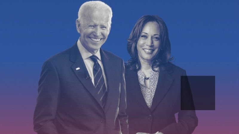 Former Vice President Joe Biden and Sen. Kamala Harris