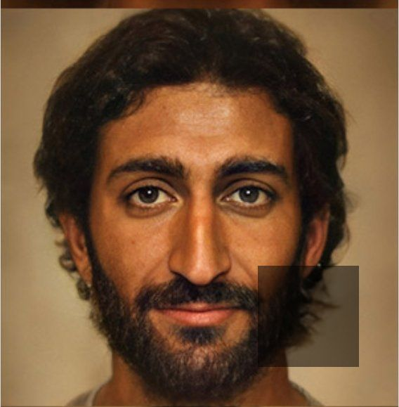 This artistic interpretation of what Jesus Christ may have looked like was created by Dutch photographer Bas Uterwijk