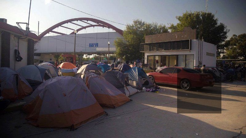 The tent camp housing migrants and asylum-seekers in Matamoros, Mexico along the U.S. border
