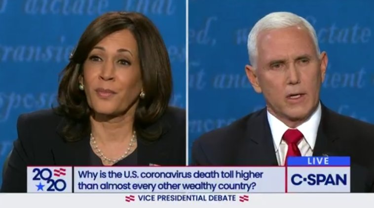 vice presidential debate kamala harris mike pence