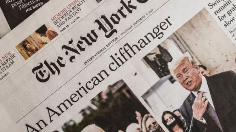 Trump Biden Presidential Election in the newspaper