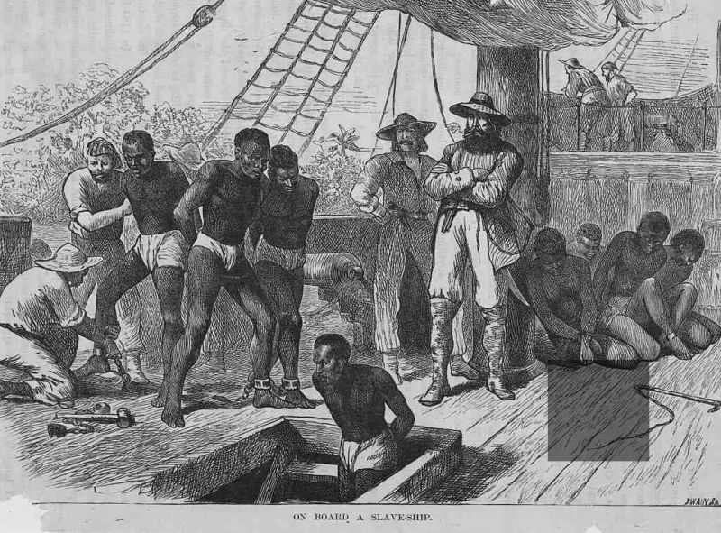 drawing slave ship aboard
