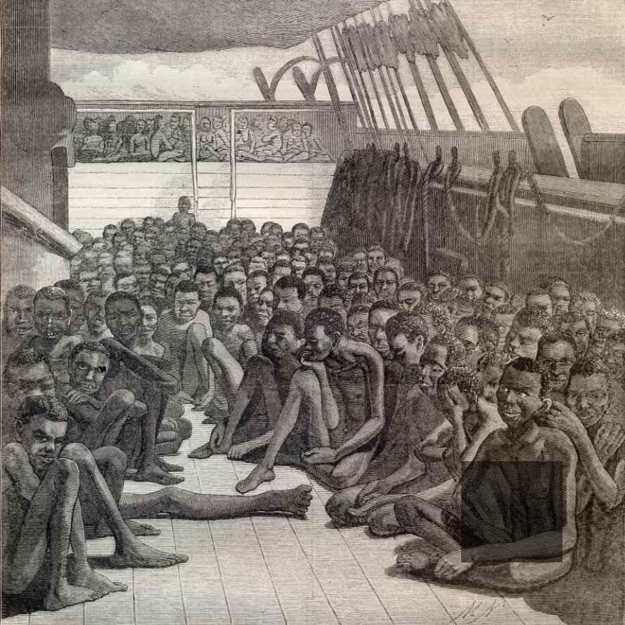 transatlantic slave ship drawing