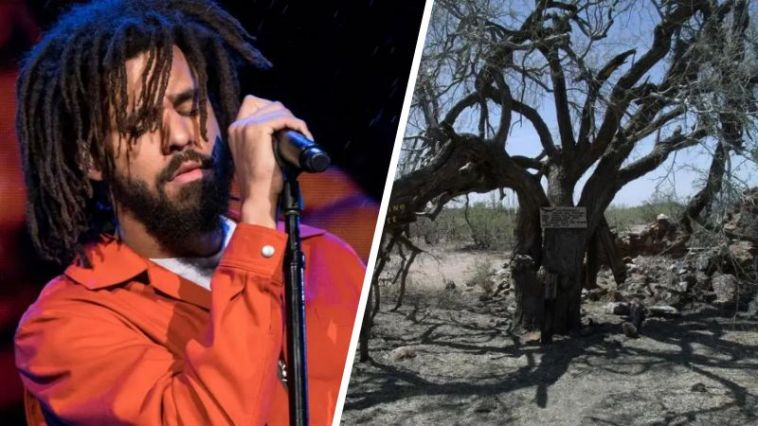Rapper J Cole and a hanging tree