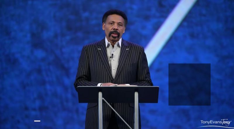 Pastor Tony Evans of Oak Cliff Bible Fellowship church preaches Race and Reconciliation