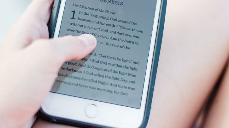bible on an iphone