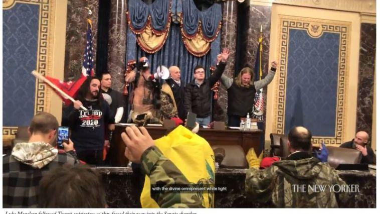 capitol rioters pray new yorker screenshot