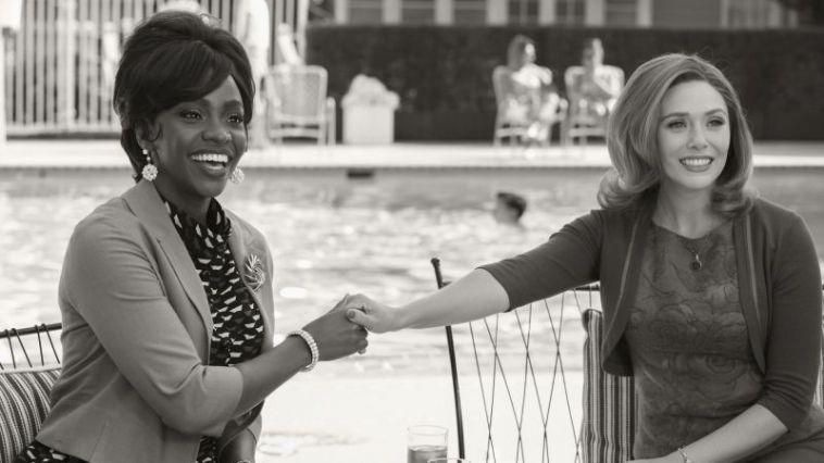 Teyonah Parris as Monica Rambeau and Elizabeth Olsen as Wanda Maximoff